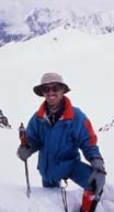 John Mock on Ghidims Pass North (5486 metres), July 2, 2000, Shimshal, Northern Pakistan
