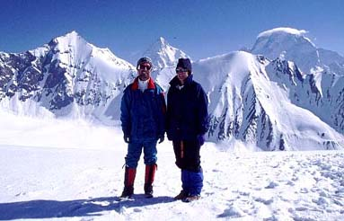 1995 John Mock and Kimberley O'Neil on Gondogoro La (5940 metres), Baltistan, Northern Pakistan