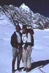 1994 John Mock and Kimberley O'Neil on Darkot An (4650m), Ghizar, Northern Pakistan
