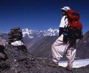 1995 Kimberley O'Neil on Punji Pass (4,680 metres), Ghizar, Hindu Raj Range, Northern Pakistan