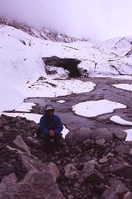 Ice cave, source of Oxus River, Wakhjir Valley, Afghanistan, August 3, 2004